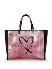 NWT Victoria's Secret Shimmering Sequin Signature Weekender Getaway Tote Bag