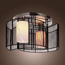 Drum Shade Crystal Ceiling Chandelier Pendant Light Fixture Lighting Lamp ZJ