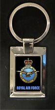 Royal Air Force Crest - high polished metal keyring