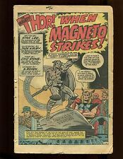 Journey Into Mystery #109 No Cover Kirby Thor 1st Magneto X-Over Scarlet Witch
