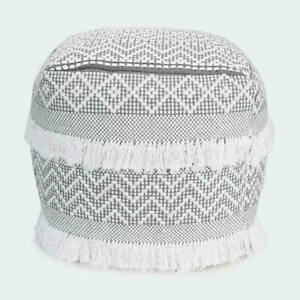 Woven Ottoman - Grey A Classic Addition To Your Home, 2021 T
