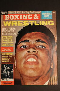 Cassius Clay MUHAMMAD ALI July 1964 BOXING & WRESTLING NEWS Magazine POBC VG