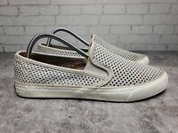 Sperry Top Sider Women's Seaside Slip On Fashion Sneaker Grey sts95717 Size 7