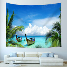 Tropical bay Tapestry Wall Hanging for Living Room Bedroom Dorm Decor