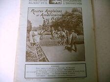 revue LA NATURE science industrie n° 2314 - 1918 guerre routes anglaises et USA