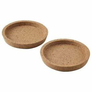 IKEA 365+ Coaster Cork Drinks Protector Hot & Cold Home Tools 10cm (Pack of 2/4)