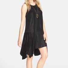 FREE PEOPLE Make it Count Black Dotted Lace Swing Dress Sz. S NWT $98