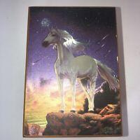 iridescent Unicorn wood trinket jewelry small storage box