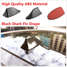 Carbon Fiber Car Shark Fin Universal Roof Antenna No Radio FM/AM Decorate Black