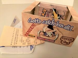 SERIOUS COLLECTORS ONLY! 10 FOSSIL BOOSTER PACKS, DISPLAY, RECEIPT & CREDIT SLIP