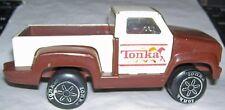 "1979 Diecast Tonka 5"" horse farm brown & white Pick-up truck w/ trailer hitch"