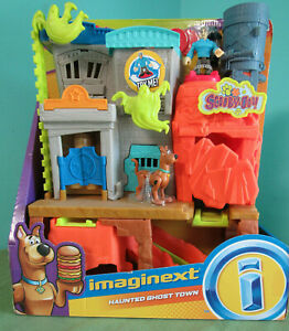 Fisher Price Imaginext Scooby Doo Ghost Town Haunted House Mine Cart Barrels