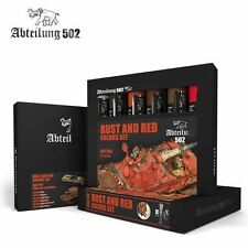 502 Abteilung Modeling Oil Paint Set- ABT-304 Rust And Red Weathering (6 Colors)
