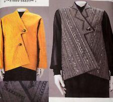 Vogue Marcy Tilton Pattern 7746 Jacket Vest Assymetrical Size L XL Uncut FF