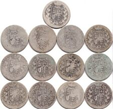 More details for coins british half crowns halfcrown .925 sterling early victorian 169.7 grams