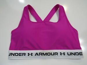 Under Armour Womens Crossback 2.0 Medium Support Sports Bra 1361034-660 Nwt