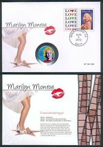 """USA Colorcoin Half Dollar 2012 John F. Kennedy """"Marilyn Monroe""""+Zertifikat, RARE"""