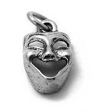 925 Sterling Silver Comedy Mask Charm