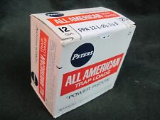 PETERS SHOT GUN SHELL BOX  ALL AMERICAN TRAP LOADS PAPER EMPTY 12 GA ORIGINAL