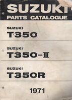 1971 SUZUKI  MOTORCYCLE T350,T350-II,T350R PARTS  MANUAL (141)