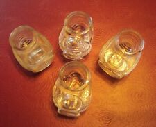 Lot of Four Vintage Clear Glass Seed Dish/Drinkers for Birdcages