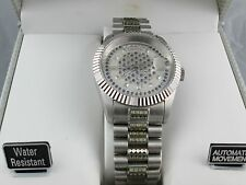 Mens Croton Automatic Watch Stainless Steel Sapphire Crystal Swiss Movement