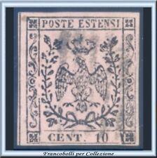 Antichi Stati 1852 Modena c. 10 rosa chiaro n. 2 Usato