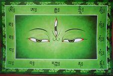 Wheel of Wisdom Eyes Tibetan Thangka Poster for Dharma Practice 11 X 17