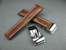 Strap Buckle Set Super Avenger 24 24mm Brown Watch Band Deployment Leather