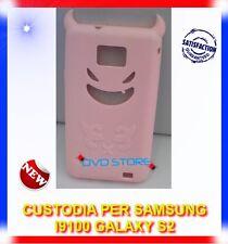 Custodia+Pellicola DEVIL ROSA per Samsung I9100 galaxy s2 plus I9105