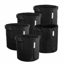 5Pcs 1 Gallon Black Fabric Grow Bags Aeration Plant Pots W Handle Root Container
