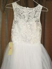 GRACE KARIN Elegant Lace Tulle Sleeveless Long Bridesmaid Formal Dress New Sz 2