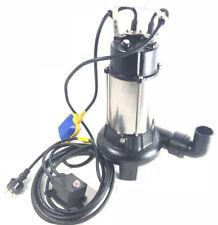 Fäkalienpumpe+Gewebeschlauch Schmutzwasserpumpe Tauchpumpe Schneidwerk zerkleine