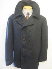 """Vintage Replica US NAVY PEA COAT Naval Clothing Kersey Wool Pembroke 48"""" Euro 58"""