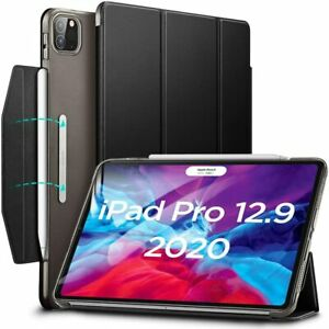 """ESR Yippee Trifold Smart Case Cover for iPad Pro 12.9"""" 2018 and 2020 Jelly Black"""