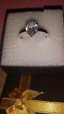 Diamant Ring ~Weißgold 585~ 2 Karat~ SOLITÄR ~Synthetischer Diamant~ Größe 53~