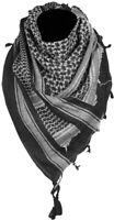 Sciarpa scialle KEFIAH cotone bianco nera, White  BLACK SHEMAGH SCARF 110x110 cm