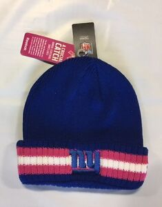 NY New York Giants Knit Beanie Winter Hat Toque Cap NEW Pink Blue BCA Cuffed