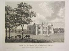 1780 DATED PRINT ~ HATFIELD HALL IN YORKSHIRE ~ SEAT OF JOHN HATFIELD KAYE