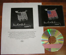 Paul McCartney FREEDOM 2 Version Promotional Only Flag Art CD w/ Flier Beatles
