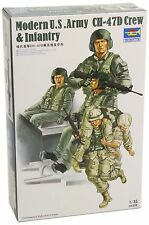 TRUMPETER MODERN US ARMY CH-47D CREW & INFANTRY  Scala 1:35 cod.00415