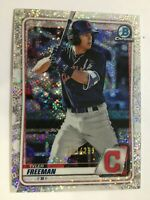 TYLER FREEMAN 2020 BOWMAN CHROME SPECKLE REFRACTOR ROOKIE RC INDIANS SP /299