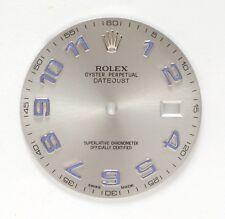 New Original Rolex Datejust 2 II 41mm, Silver/Gray Dial w. Blue Arabic Numerals