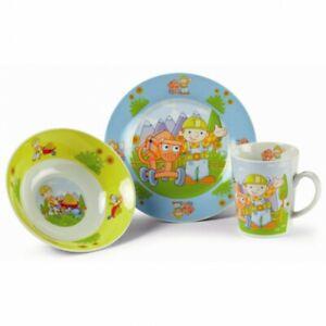 BOB THE BUILDER kids breakfast set - ceramic - bowl plate mug
