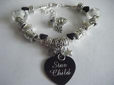 Spiritual Inspirational *Star Child/Starseed* Charm Bracelet Labradorite Cosmic