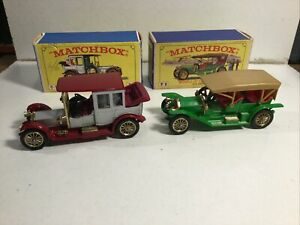 Matchbox Models Of Yesteryear Y7 Y9 Very Near Mint In Excellent Original Boxes