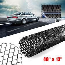 "40x13"" Car Black Grille Mesh Net Sheet Aluminum Rhombic Auto Grill Universal US"