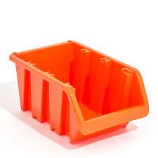 20 Stapelboxen In-Box Sichtlagerkästen Sichtlagerbox Box orange Gr 4 Neu