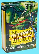 60 DRAGON SHIELD APPLE GREEN MATTE JAPANESE Card Sleeves Mini Deck Protector ccg