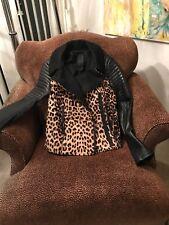 A.L.C Lee Ladies Leopard Print Leather Jacket Size 6/$1750 Original Price